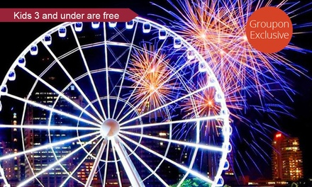 1 $12, 2 $23, or 4 Tickets $46 or Private Family Gondola Ride $69 at The Wheel of Brisbane Up to $94.05 Value