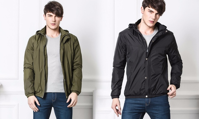 Groupon Goods: Men's Wind-Resistant Jacket (Shipping Included)