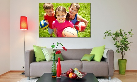 for a Personalised Canvas Print in Choice of Size and Style, Redeemable Online Don't Pay Up to $299