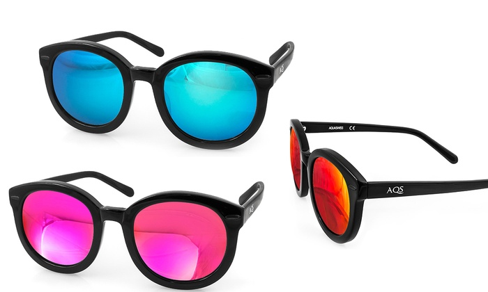 Aqs Mirrored Sunglasses  betty las mirrored sunglasses groupon goods