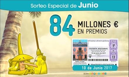 Lotería Sorteo Especial de Verano del 10 de junio - 30 décimos con la Peña de La Bruixa d'Or por 8,40€ con Serviapuestas