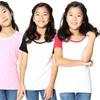 Girls' Cotton Raglan T-Shirt