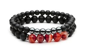 (Beauté)  Bracelets Hématite Obsidienne -77% réduction