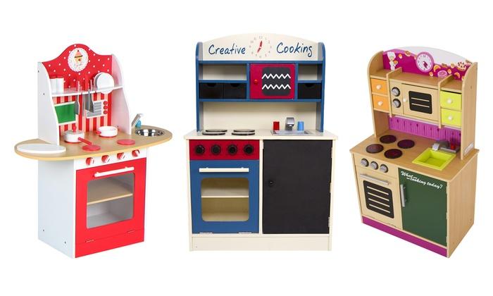 Cocina de madera para niños | Groupon