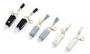 Bouteilles avec porte-clés pour le désinfectant