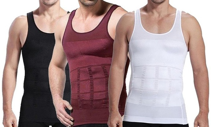 Ever Mercantile Limited: Men's Body Shaping Slimming Vest: One ($12) or Two ($20)