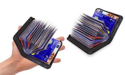 1, 2 o 4 Carteras RFID de cuero