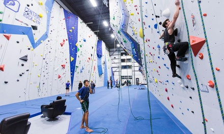 Indoor Climbing and More at Central Rock Gym Randolph (Up to 52%) Off). Six Options Available.