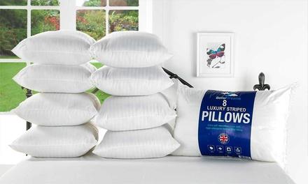 Eight Satin Stripe Pillows
