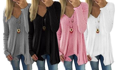 1 o 2 jerseys de cuello V para mujer