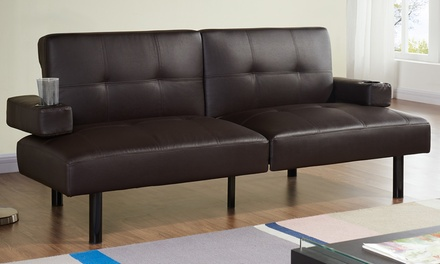 Sofá cama de piel ecológica Hilton