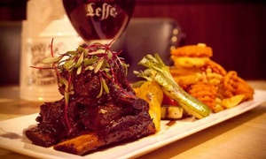Resto-Pub Le Cerbère: Starting from C$45 Voucher Valid for Dinner for Two or Four at Le Cerbère Resto-Pub (44% Off)