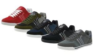 Alpine Swiss Liam Men's Suede-Trim Fashion Sneakers