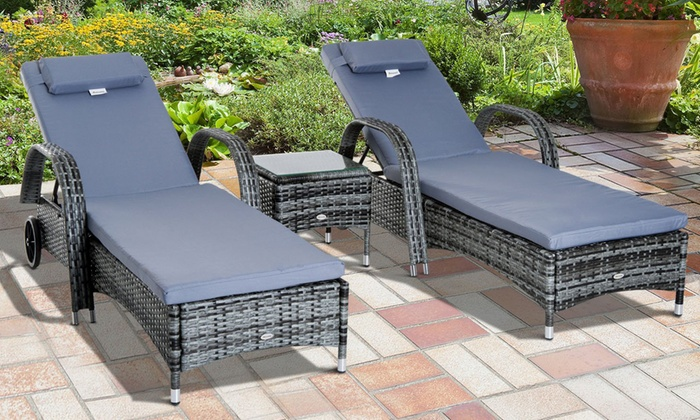 Outsunny Garden Rattan Set from £229.99