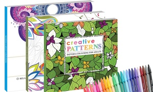 2-Piece Adult Colouring Book Sets