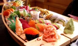 Minado: 44 pièces de spécialités japonaises avec soupe, riz et salade, pour 2, à emporter à 29,90 € au restaurant Minado