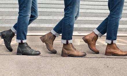 Boots cuir fourrées Redfoot Homme