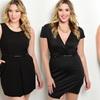 Women's Plus Size Black Mini Dresses