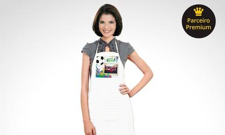 1 avental personalizado com as suas fotos digitais com a Uniko