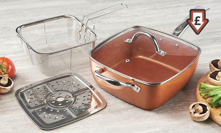SixinOne Copper Effect MultiSquare Pan