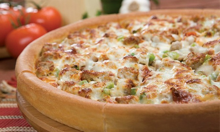 Godfather's Pizza - Grimes: Pizza and Drinks at Godfather's Pizza in Grimes Plaza (Up to 52% Off). Two Options Available.