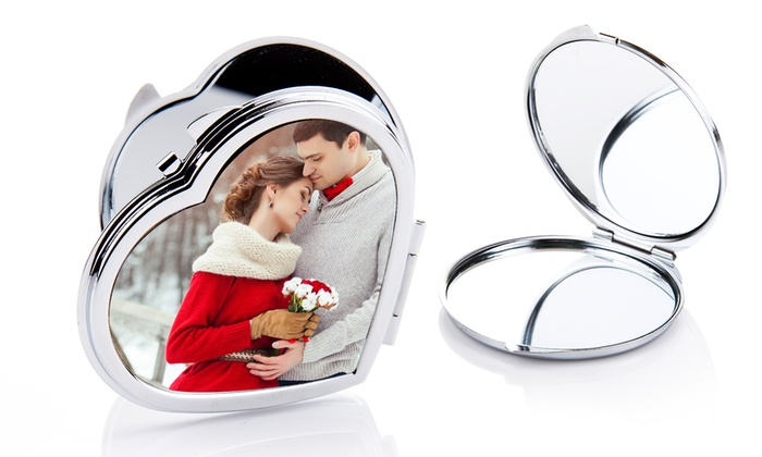 Printerpix: One, Two, or Three Custom Photo Compact Mirrors from Printerpix (Up to 71% Off)