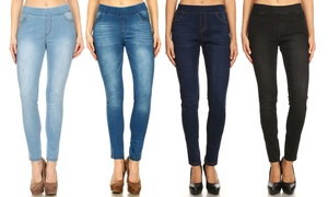 High-Waisted, Pull-On Skinny Denim Women's Jeggings