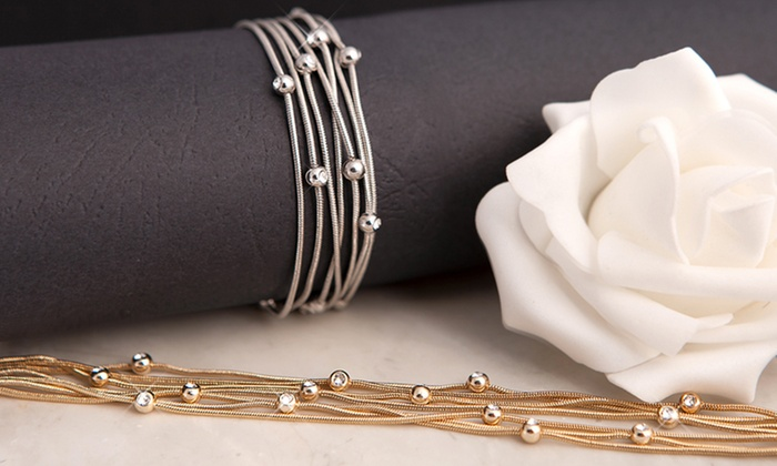 Neverland Sales: One (€11.99) or Two (€19.99) Tatiana Bracelets with Crystals from Swarovski® With Free Delivery (Up to 50% Off)