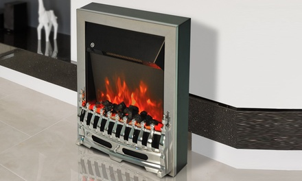 Up To 53 Off Electric Fireplaces Silver Or Gold Groupon