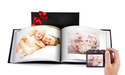 Gepersonaliseerde lederen fotoboek A5, A4 of 30x30cm met 100 paginas vanaf € 14,99 korting