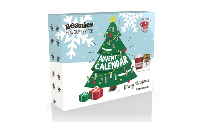 Beanies Coffee Christmas Advent Calendar With Drinking Cup And Jar Of Coffee
