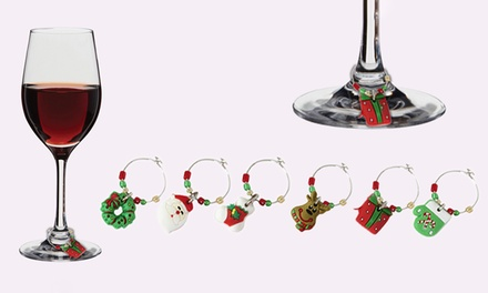 6, 12, 18, or 24 Christmas Wine Glass Decorations