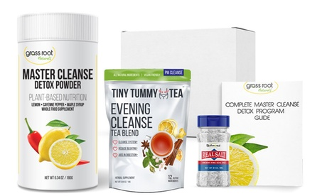 Grass Root Naturals Complete Master Cleanse Detox Box (4-Piece)
