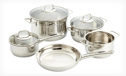 WMF Collier 18/10 Stainless Steel 8-Piece Induction Cookware Set. Free Returns.
