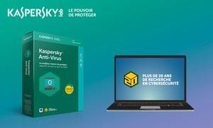 Kaspersky: Antivirus PC primé valable un an à 14,90€ au lieu de 29,99€ sur le site de Kaspersky Lab