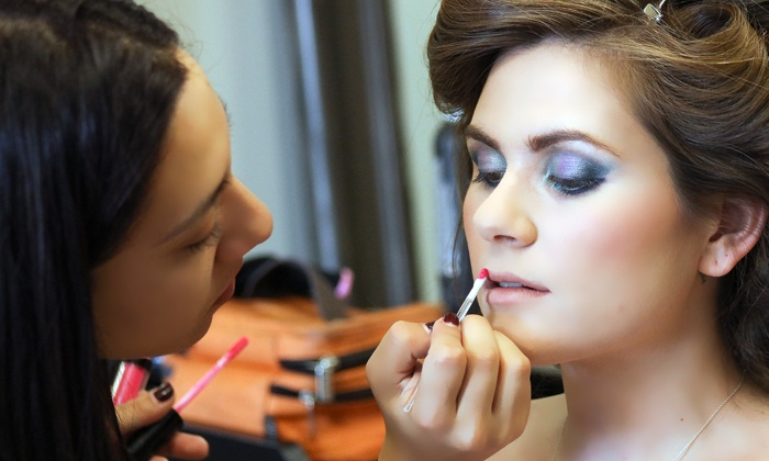 Judith B - Elmhurst: One Custom Make-Up Application with Optional Blow-Dry or One Make-Up Lesson at Judith B (Up to 44% Off)