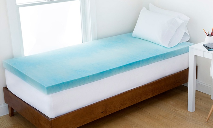 authentic comfort gel swirl memoryfoam dorm mattress topper authentic comfort gel swirl memory - Gel Memory Foam Mattress Topper