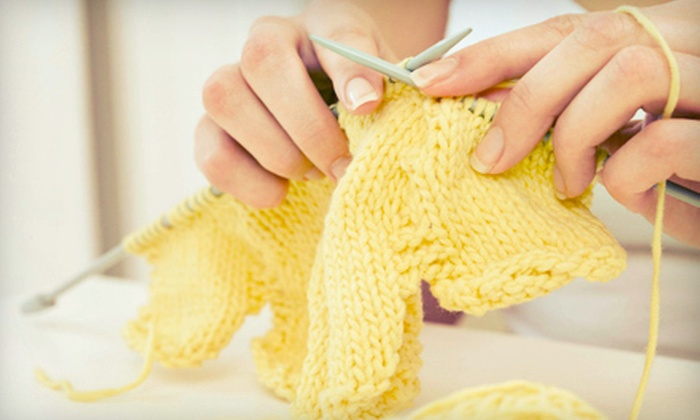 The Fiber Gallery - Greenwood: Two-Hour Learn to Knit Class with Starter Kit for One or Two at The Fiber Gallery (Up to 56% Off)