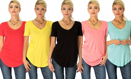 $25 for a Women's Deep VNeck Tunic Top in Choice of Colour