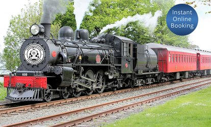 image for The Marlborough Flyer Steam Train Return Journey for One ($89), Two ($178) or Four People ($356) (Up to $468 Value)