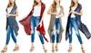 Women's One Size High Low Crochet Vest Cardigan