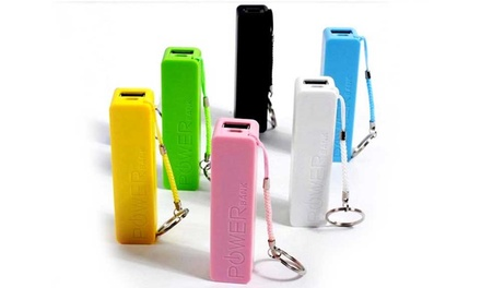 Batterie portable externe de secours PowerBank pour tous smartphones et tablettes, coloris aux choix