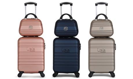 Set 2 vanity case et valise cabine LPB en ABS, collection Aurélia