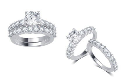 3.00 CTTW Diamond Bridal Ring Set in 14K Gold