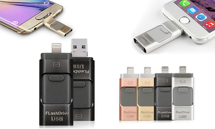 8GB or 16GB Flash Drive for iPhone or iPad