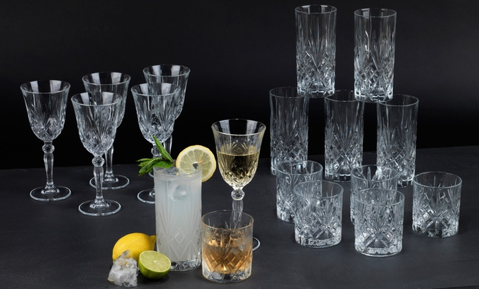 RCR Crystal Melodia Glass Bundles for €49.99 With Free Delivery (50% Off)