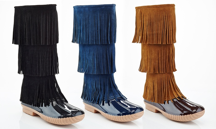 NY VIP Women's Fringe Boots | Groupon Goods