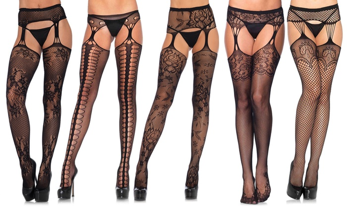 9c3762fbf40 Up To 11% Off on Women's Suspender Fishnets | Groupon Goods