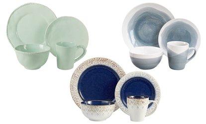 Shop Groupon American Atelier Stoneware Dinnerware Set (16-Piece)  sc 1 st  Groupon & Savannah Dinnerware Sets (4- or 16-Piece) | Groupon