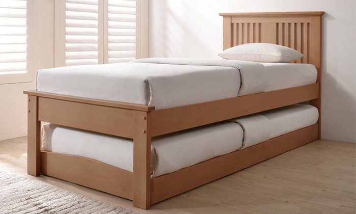 Malpas Wooden Bed And Trundle